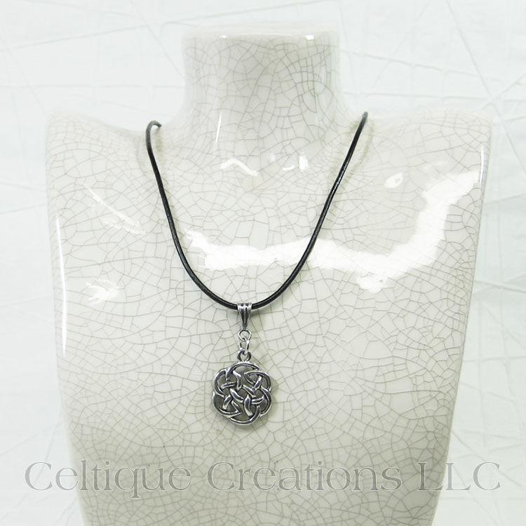 Celtic Circle Knot Adjustable Handmade Necklace - product images  of
