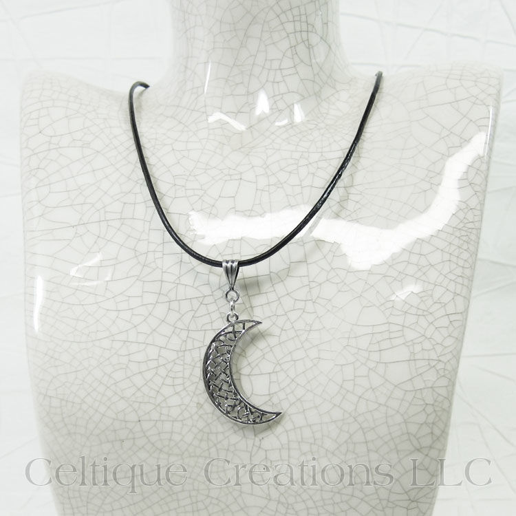 Celtic Knot Moon Handmade Adjustable Necklace - product images  of