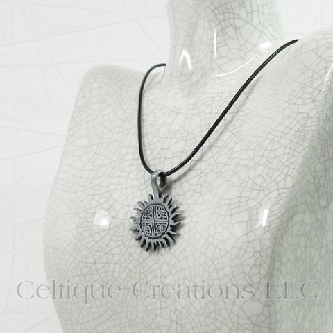 Celtic Knot Sun Necklace Handmade Adjustable - product images  of