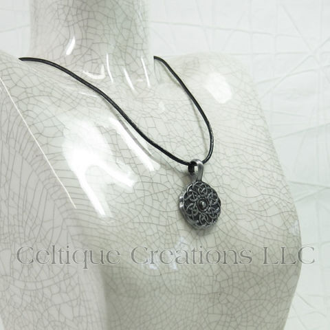 Celtic Knot Medallion Necklace Handmade Adjustable - product images  of