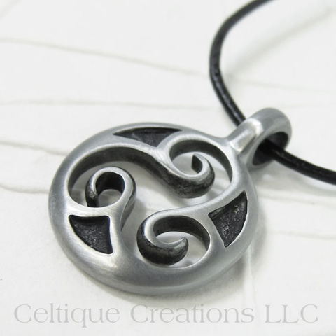 Celtic,Triskele,Medallion,Necklace,Handmade,Adjustable,Celtic Triskele Necklace, Celtic Triple Spiral Necklace, Celtic Triskelion Necklace, Handmade Triskele Necklace, Triskele Necklace, Triple Spiral Necklace, Celtique Creations
