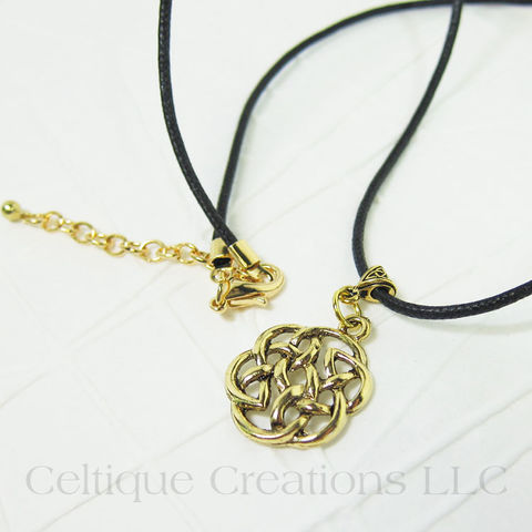 Gold,Celtic,Knot,Necklace,Handmade,Adjustable,Gold Celtic Necklace, Gold Celtic Jewelry, Gold Celtic Knot Necklace, Celtic Knot Necklace, Celtic Necklace, Handmade Celtic Necklace, Handmade Celtic Jewelry, Celtique Creations