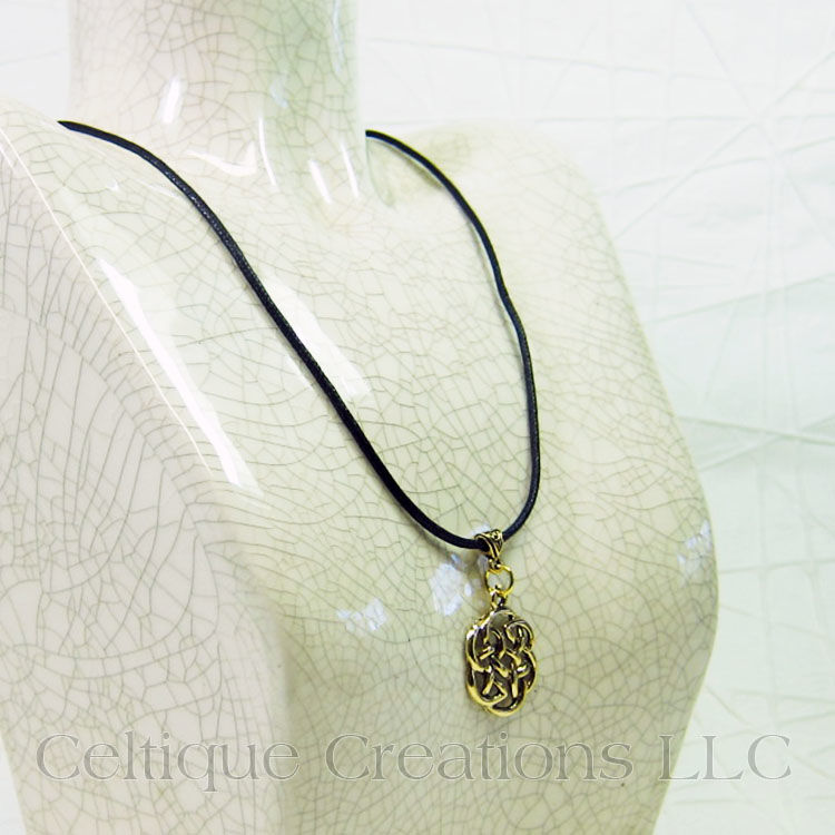 Gold Celtic Knot Necklace Handmade Adjustable - product images  of