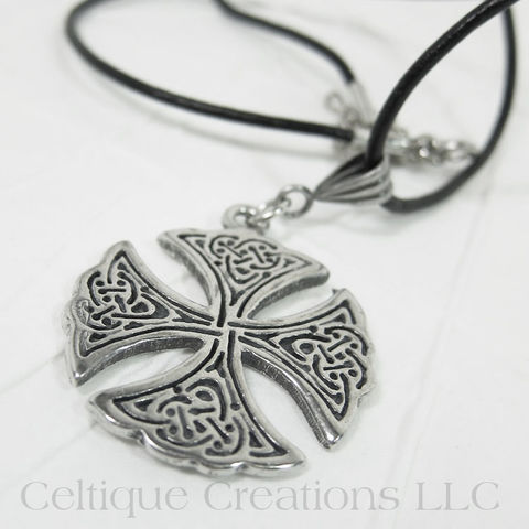 Circular,Celtic,Cross,Necklace,Handmade,Adjustable,Celtic Cross Necklace, Celtic Knotwork Cross Necklace, Celtic Knot Cross Necklace, Celtic Cross Jewelry, Handmade Celtic Cross Necklace, Celtique Creations