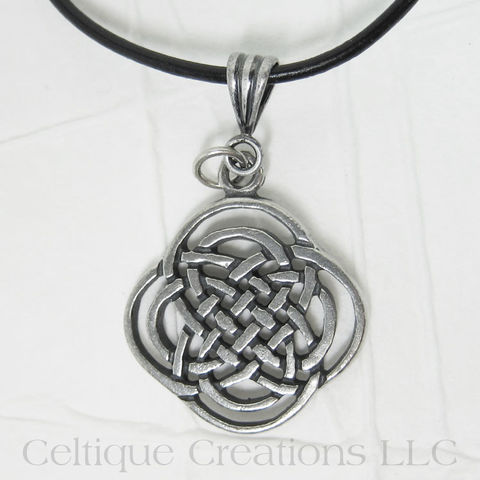Handmade Intricate Celtic Knot Necklace Adjustable - product images  of