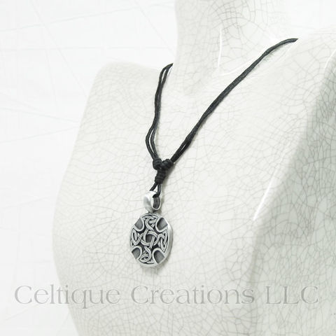 Celtic Cross Medallion Necklace Adjustable - product images  of