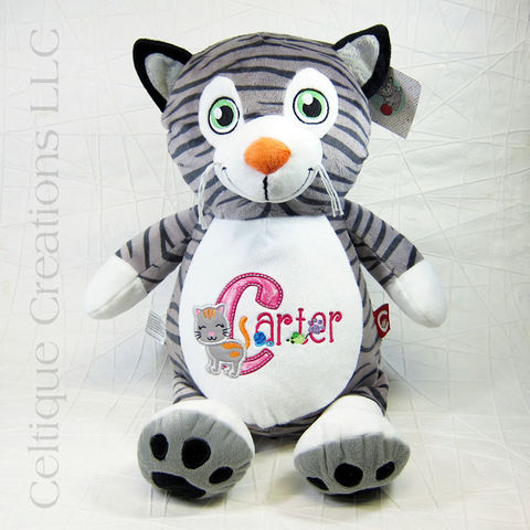 Personalized,Cat,Cubbies,Stuffed,Animal,Personalized Cat Gift, Personalized Cat Stuffed Animal, Cat Stuffed Animal, Cubbies Cat, Cubbies, Personalized Stuffed Animal, Celtique Creations