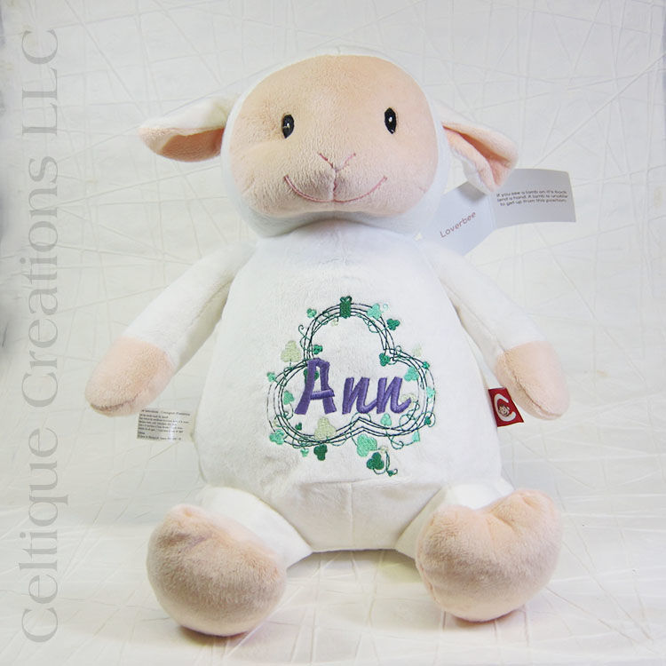 Personalized Lamb Cubbies Stuffed Animal - product images  of