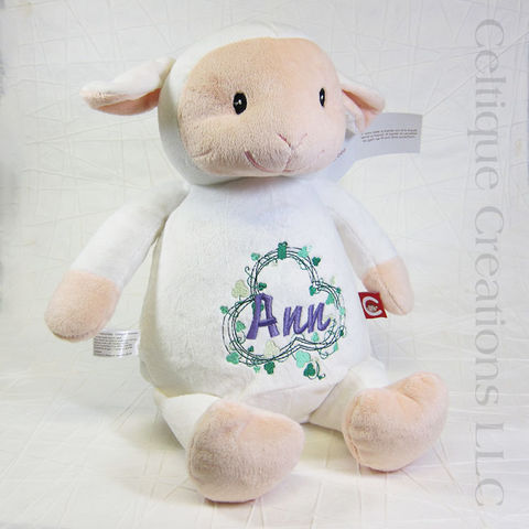 Personalized,Lamb,Cubbies,Stuffed,Animal, Lamb Stuffed Animal, Cubbies Lamb, Personalized Lamb, Personalized Stuffed Animal, Personalized Embroidery, Celtique Creations