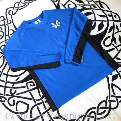 Limited,Run,Scotland,Micro,Fleece,Sweatshirt,Scotland Sweatshirt, Scotland Micro Fleece Sweatshirt, Limited Run Celtic Apparel, Scottish Apparel, St. Andrew's Cross Sweatshirt, Saltire Sweatshirt, Celtique Creations