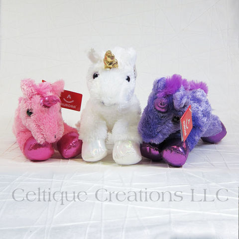 Celestial,the,Unicorn,Mini,Flopsies,Stuffed,Animal,Unicorn Stuffed Animal, Small Unicorn stuffie, Unicorn Soft Toy, Pink Unicorn, Purple Unicorn, White Unicorn, Mini Flopsis Unicorn, Celtique Creations