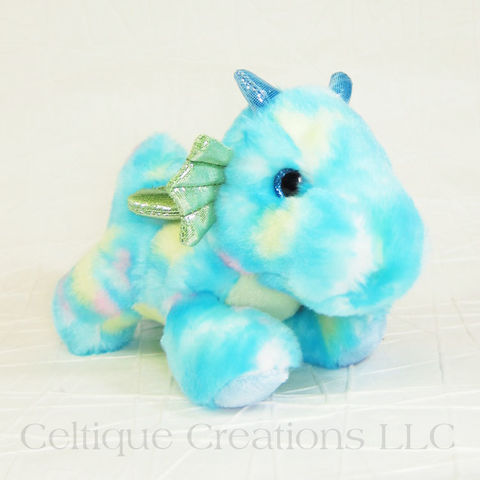 Sprinkles,Dragon,Bright,Fancies,Stuffed,Animal,Sprinkles Dragon, Dragon Stuffed Animal, Dragon Stuffie, Dragon Soft Toy, Adorable Dragon Toy, Bright Fancies, Aurora Stuffed Animals, Celtique Creations