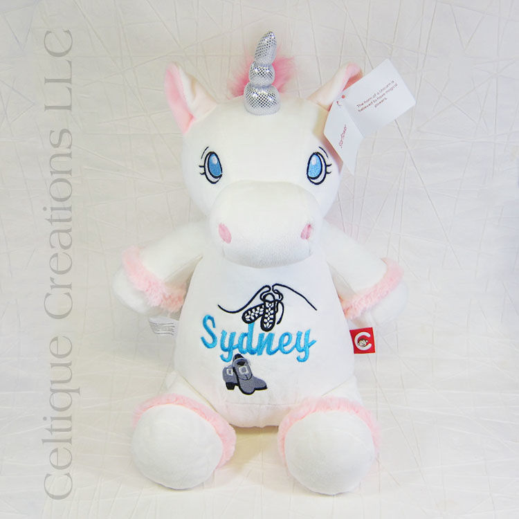 Personalized White Unicorn Cubbies Stuffed Animal - product images  of