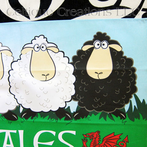 Wales Sheep Cotton Tea Towel - product images  of