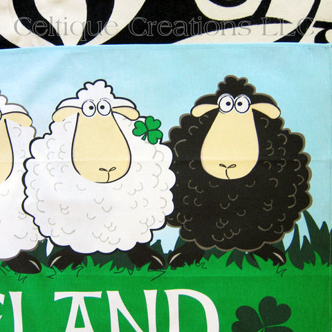Ireland Sheep Cotton Tea Towel - product images  of
