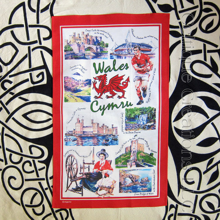 Iconic Wales Cotton Tea Towel - product images  of