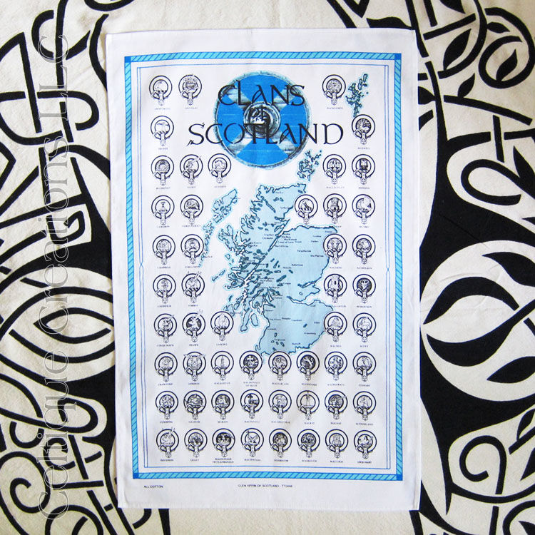 Clans of Scotland Cotton Tea Towel - product images  of