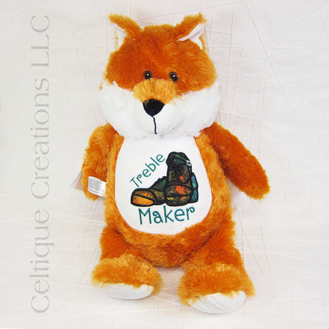 Treble,Maker,Irish,Dance,Fox,Cubbies,Stuffed,Animal, Irish Dance, Hard Shoe, Heavy Shoe, Jig Shoe, Stuffed Animal, Soft Toy, Stuffie, Cubbies, Celtique Creations