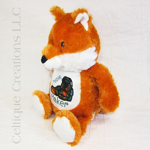 Treble Maker Irish Dance Fox Cubbies Stuffed Animal - product images  of