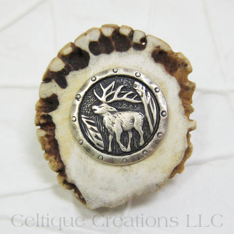 Stag,Handmade,Deer,Antler,Kilt,Pin,Cap,Badge, Stag, Deer Antler, Kilt Pin, Handmade, Cap Badge, Badge, Pin, Unique, Celtique Creations