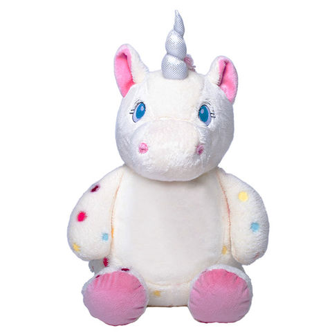 Personalized Spotted Unicorn Cubbies Signature Stuffed Animal - product images  of
