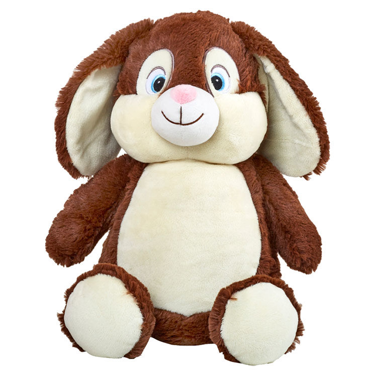 Personalized Bunny Stuffed Animal Chocolate Brown Cubbies  - product images  of