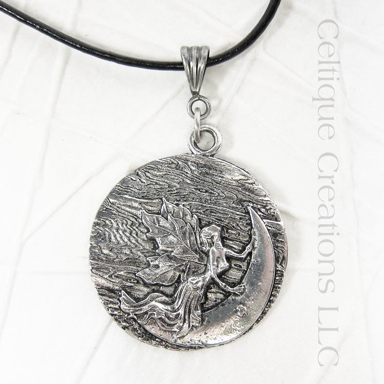 Fairy and Moon Handmade Necklace - product images  of