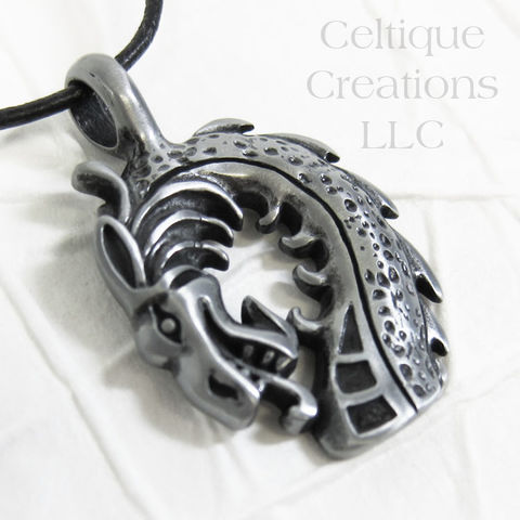 Large Dragon Head Pendant Handmade Necklace - product images  of