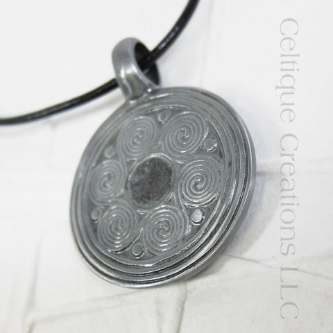 Celtic Spiral Medallion Handmade Necklace - product images  of
