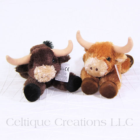 Toro,the,Highland,Cattle,Bull,Mini,Flopsies,Stuffed,Animal,Scottish Cow, Highland Cow, Heilan' Coo, Scottish Highland Cow, Stuffed Highland Cow, Highland Cow Soft Toy, Cow Stuffed Animal, Celtique Creations