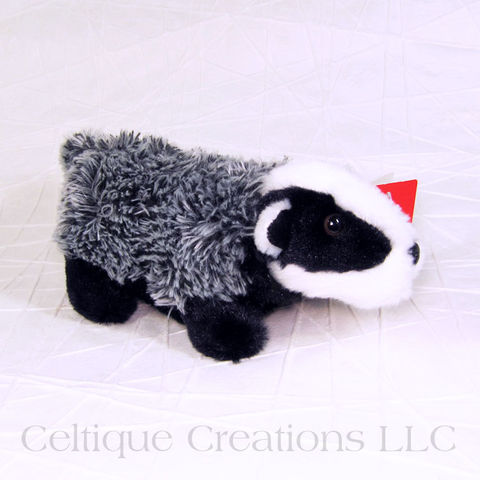 Badger,Small,Stuffed,Animal,Mini,Flopsie, Badger Stuffed Animal, Badger Soft Toy, Stuffed Animal, Soft Toy, Mini Flopsie, Aurora, Celtique Creations