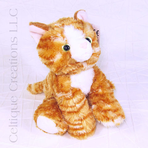 Molly,the,Orange,Tabby,Kitten,Mini,Flopsie,Stuffed,Animal, Orange Tabby, Tabby Cat, Striped Cat, Kitten Stuffed Animal, Cat Stuffed Animal, Stuffie, Mini Flopsie, Aurora, Celtique Creations