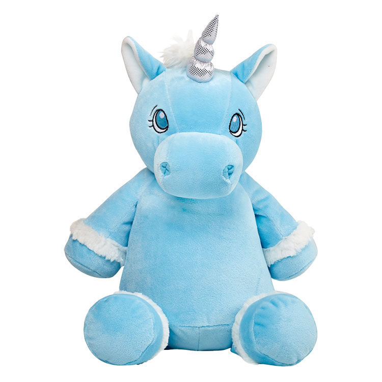 Personalized Blue Unicorn Cubbies Stuffed Animal - product image