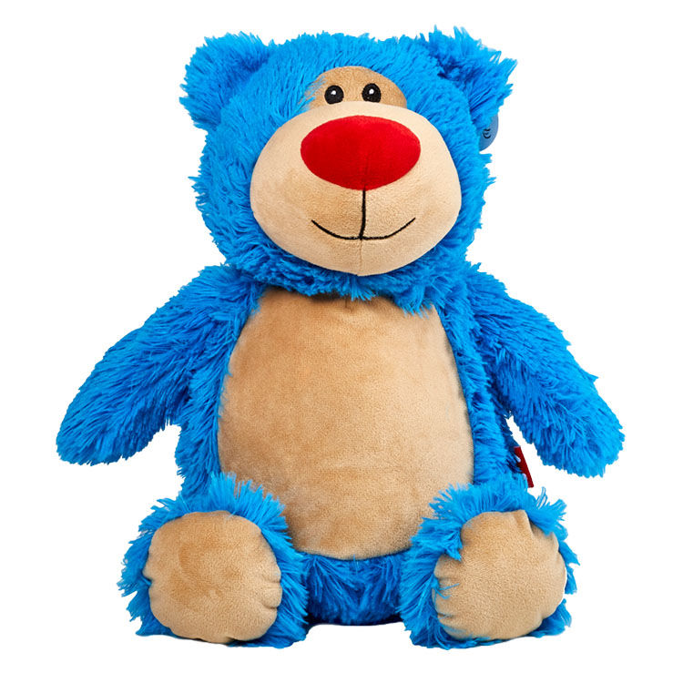 Personalized Blue Teddy Bear Cubbies Stuffed Animal - product image