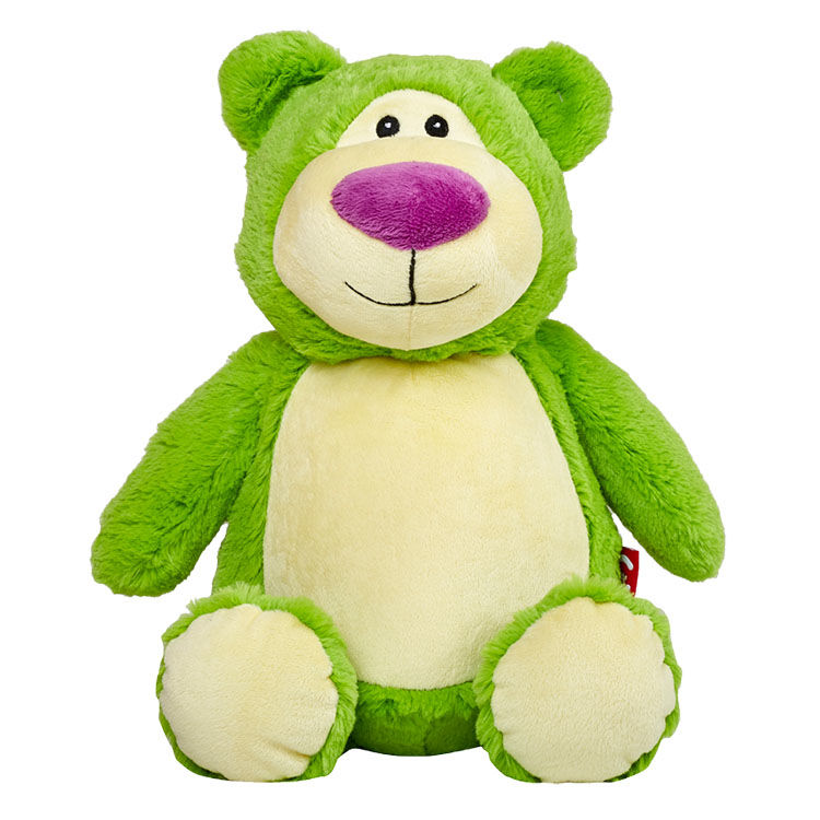 Personalized Green Teddy Bear Cubbies Stuffed Animal - product image