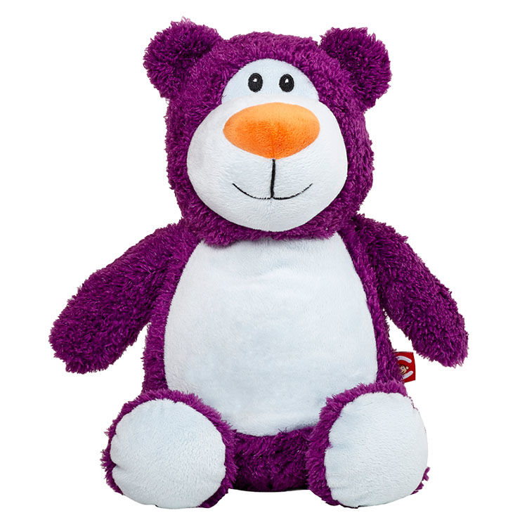 Personalized Purple Teddy Bear Cubbies Stuffed Animal - product image