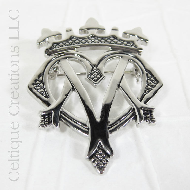 Scottish Luckenbooth Brooch Pendant Pewter - product images  of