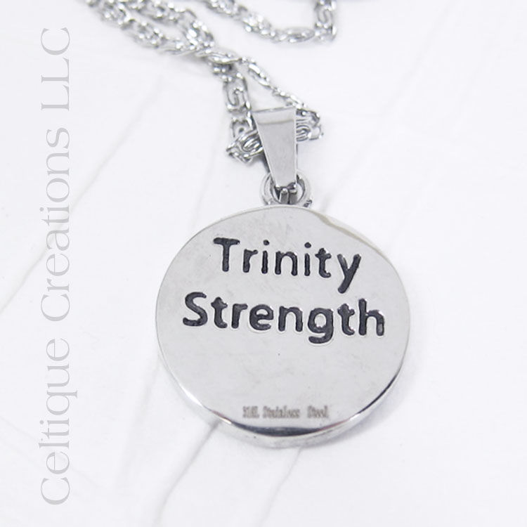 Bold Trinity Knot Necklace Stainless Steel - product images  of