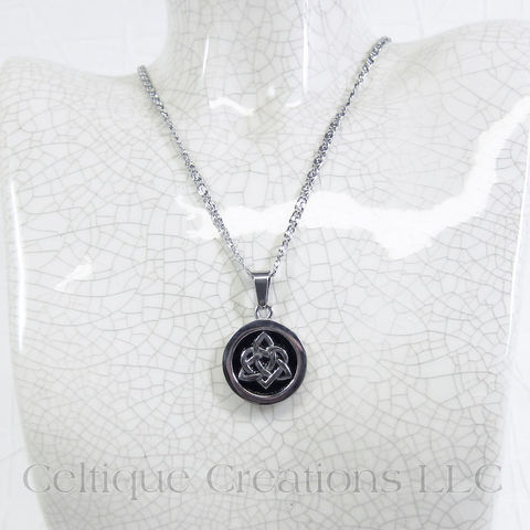 Bold Sisters Celtic Knot Necklace Stianless Steel - product images  of