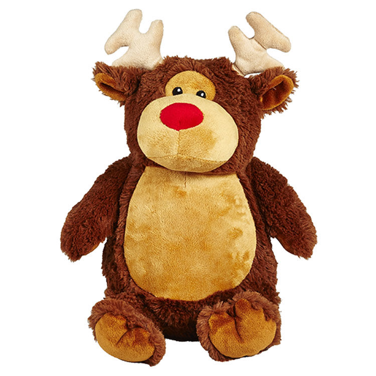 Personalized Christmas Reindeer Cubbies Stuffed Animal - product image