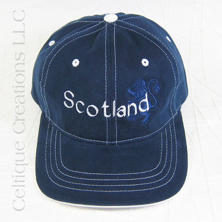 Scotland Navy Baseball Cap with Lion Rampant - product images  of