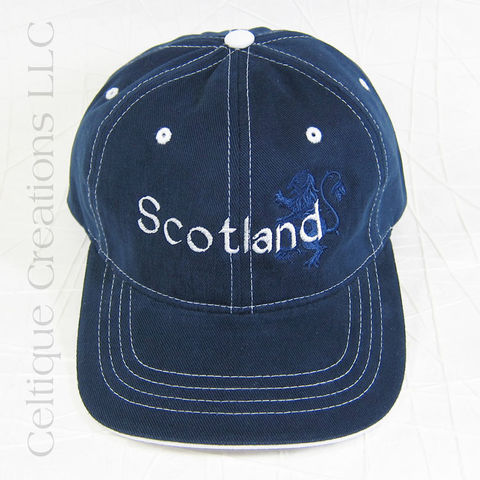 Scotland,Navy,Baseball,Cap,with,Lion,Rampant, Scottish, Baseball Cap, Baseball Hat, Hat, Cap, Navy, Lion Rampant, Celtique Creations