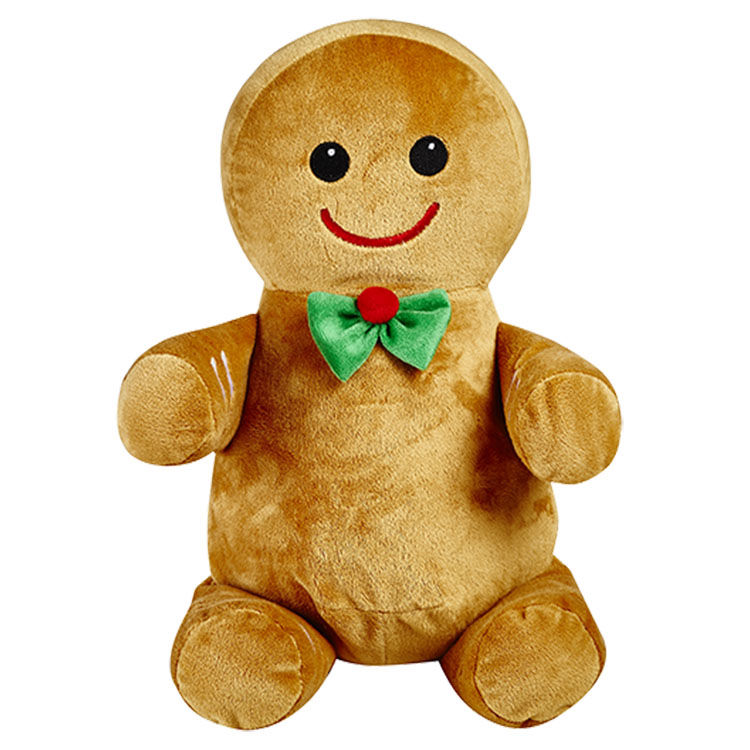 Personalized Gingerbread Man Christmas Cubbie Stuffed Animal - product image