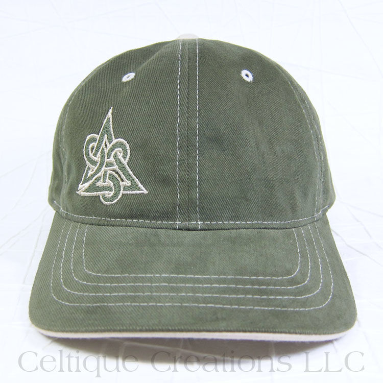 Celtic Triquetra Olive Baseball Cap - product images  of