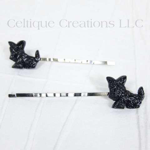 Sitting Scottish Terrier Handmade Bobby Pins - product images  of