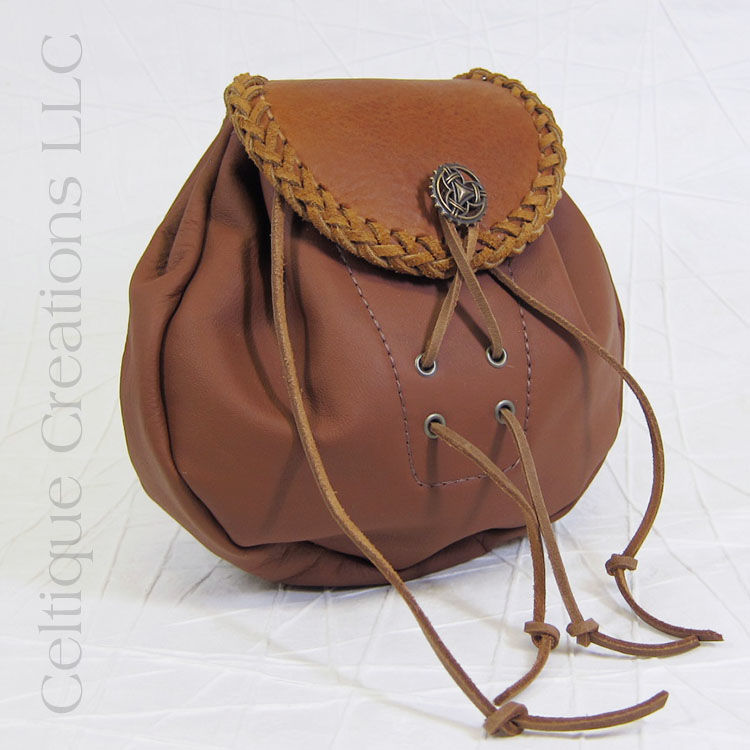 Brown Rob Roy Leather Sporran Handmade - product images  of