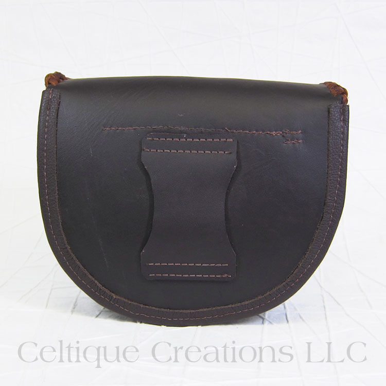 Handmade Day Sporran Brown Leather - product images  of