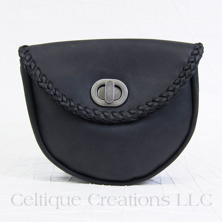 Handmade Day Sporran Black Leather - product images  of