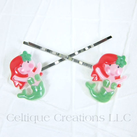 Cute Mermaid Bobby Pins Handmade Hair Accessories - product images  of