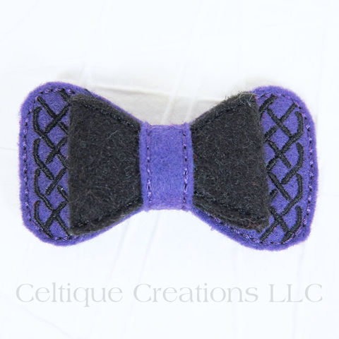 Celtic,Hair,Bow,Handmade,Barrette,Purple,and,Black,Celtic Bow, Celtic Hair Bow, Celtic Barrette, Handmade Celtic Bow, Handmade Celtic Barrette, Purple and Black Hair Bow, Celtique Creations